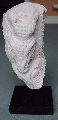Large Ancient Greek Stone Carving Of Two Snake Heads 1St Millennium Bc