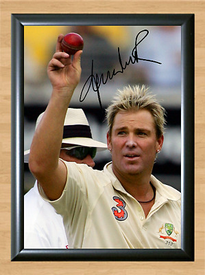Shane Warne Cricket Signed Autographed A4 Poster Photo Print Memorabilia ball 1