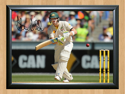 Steve Smith Cricket Signed Autographed A4 Poster Photo Print Memorabilia bat 1