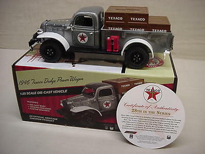 Texaco Special Ed. Brushed Metal 2011 1946 Dodge Power Wagon Stake Bed Truck #28