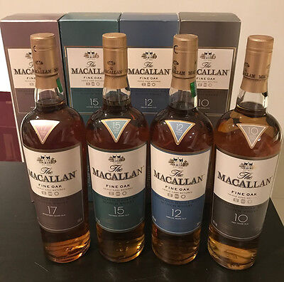 The Macallan 10, 12, 15 & 17 Year Old Scotch Whisky 700ml