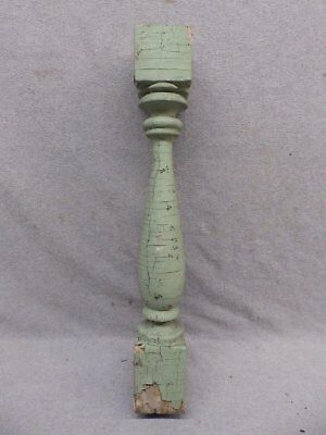 1 Antique Turned Wood Spindle Porch Baluster Thick Old Vtg Architectural 551-17R
