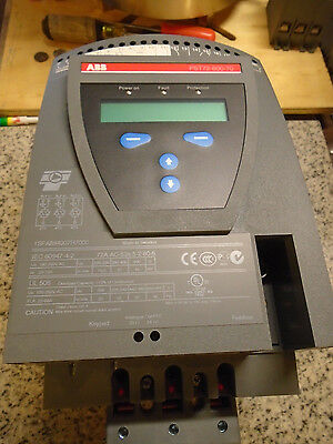 ABB Soft Start AC Drive PST72-600-70D 72A 220-500V WITH MANUAL NEW FREE SHIPPING