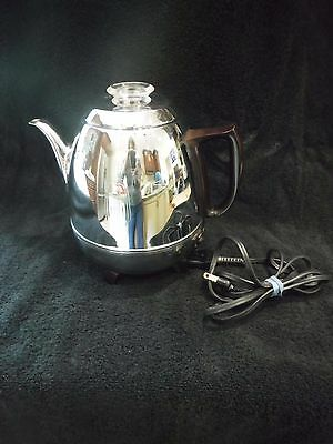 Vintage 1950's General Electric Coffee Percolator GE33P30 Pot Belly