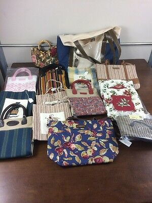 Longaberger Lot Set of 15 Totes Bags Purses Handbags Variety