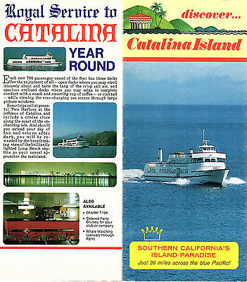 CATALINA ISLAND CALIFORNIA Vintage Travel Brochure Map Things To Do on