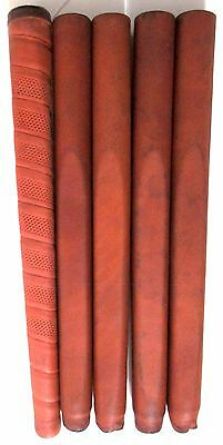 Vintage Putter Grips Saddle Brown 4 Stitched Leather 1 Leather Look Wrap Style