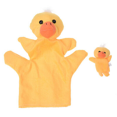 Yellow Duck Hand Puppet Finger Puppet C8U4