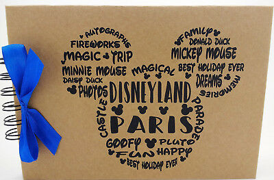 Disney Autograph Book Mickey, Minnie Mouse, Disneyland Paris or Disney World ***