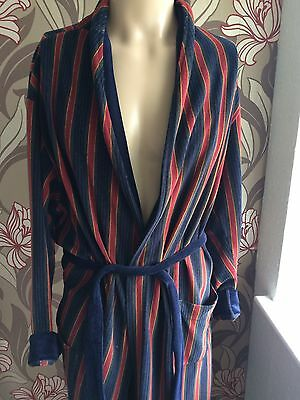 vintage dressing gown smoking jacket  Robe  L 80s St Michael