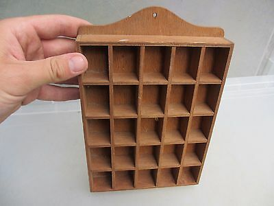 Wooden Thimble Display Holder Rack Wood Old