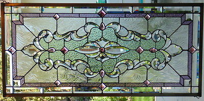 Stained Glass window hanging 40 5/8 X 19 1/2