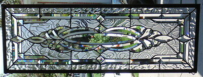 Stained Glass window Transom hanging 38 1/2 X 13 3/4