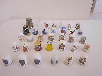 Collectable Thimbles - Assorted X 34