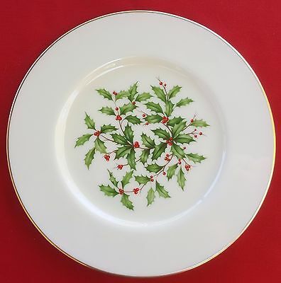 """Lenox China Holiday (Dimension / Presidential) 8 3/8"""" SALAD / SIDE PLATE - MINT!"""