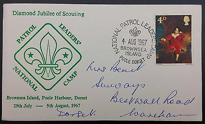 Scouts Cover - National Patrol Leader's Camp, 1967, Special Cancel, Brownsea