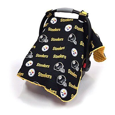 EUC Pittsburgh Steelers Carseat Canopy / Fits Most Brands / Warm Fleece Blanket