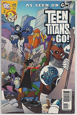 Teen Titans Go! #55 Dc Comic Cartoon Network Final Issue Cyborg Robin Starfire