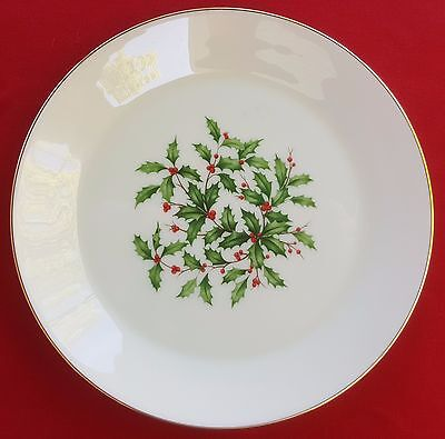 """Lenox China Holiday (Dimension / Presidential) 8"""" SALAD / SIDE PLATE - MINT!"""
