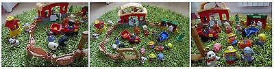 Lot Fisher Price LITTLE PEOPLE Ferme  20 personages animaux jouet bébé univers