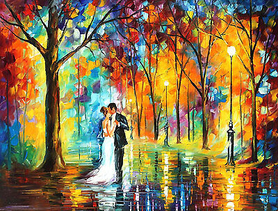 "Rainy Wedding   —  Oil Painting On Canvas By Leonid Afremov. Size: 40""x30"""