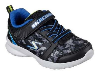 NEW Boys Toddler SKECHERS MIGHTY FLEX HUSTLE 95261 Black Athletic Sneakers Shoes