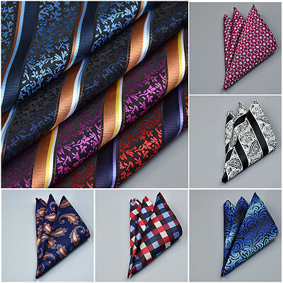 NEW Mens Paisley Floral Pocket Square Hankie Handkerchief Various Styles