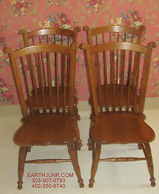 Tell City Set of 4 Cinnamon Hill Spindle Back Dog Ear Side Chairs American Made