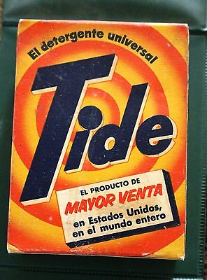 """VINTAGE TIDE DETERGENT BOX, Unopened, from Mexico, 110 grams, """"Mayor Sale"""", VGC"""