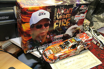 "John Force  Night Under Fire, 2007,  ""autographed"", 2006  Car 1/24,  1 Of 1500"