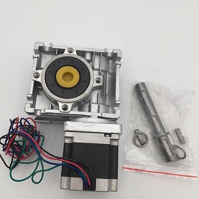 Nema23 Stepper Motor L56 76 112mm Worm Reducer 7.5:1 10:1 15:1 20:1 30:1 Gearbox