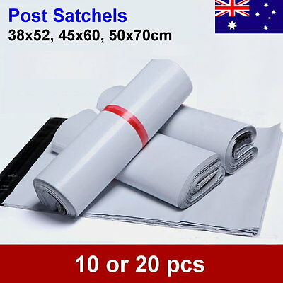 10pcs or 20pc Large/Extra Large Post Satchels Mail Courier Bag 60um Thickness