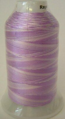 Embroidery Machine Thread Rayon 1000 metre Variegated LILAC A921.0008