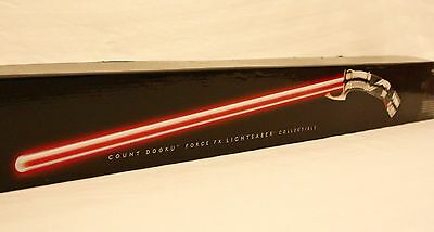 """VERY RARE"" Star Wars Count Dooku Force FX Lightsaber  NEW CONDITION"""