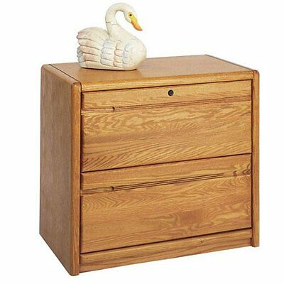Two-Drawer Medium Oak Wood Lateral File Cabinet, Martin Furniture