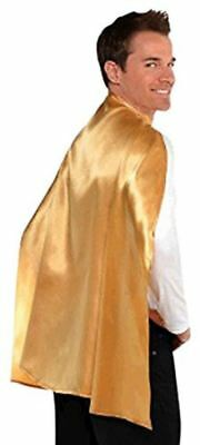 Superhero Cape Dress Up Costume Party Accessory, Gold, Fabric, 30'.