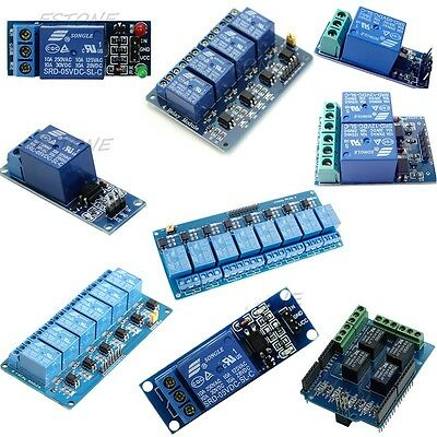 5V 1/2/4/6/8 Channel Relay Board Module Optocoupler LED for PIC AVR ARM Arduino