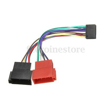 16 Pin Car Stereo Radio ISO Wiring Harness Connector Adaptor Cable For Kenwood