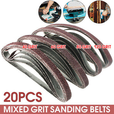 20x Powerfile Sanding Belts 13mm x 457mm Guaranteed to Fit For Black & Decker