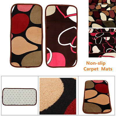 1pcs 20*40cm Stair Tread Rectangle Non-slip Carpet Stair Mats Rugs Pads