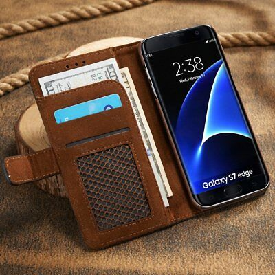 Magnetic Flip Cover Stand Card Wallet Leather Case For Samsung Galaxy S7 S7 Edge
