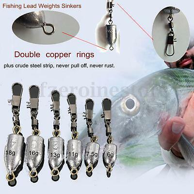 1/5/10/20 Pcs Sea Carp Coarse Fishing Lure Drilled Leads Weights Sinker All Size