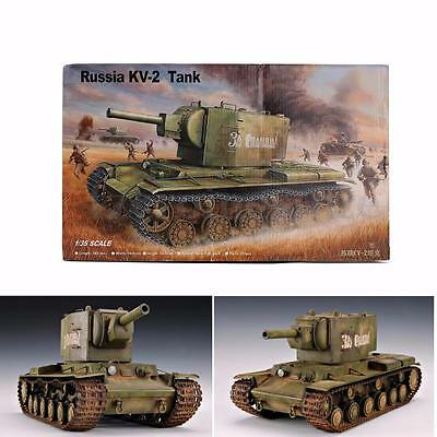 1:35 Scale Soviet Russia KV-2 Assembling Heavy Tank Kids Toy Collection Model