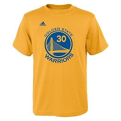 low priced d6bfd 413de GOLDEN STATE WARRIORS NBA Adidas Stephen Curry #30 Yellow Jersey T-Shirt S