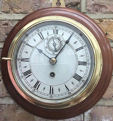 EXCEPTIONAL QUALITY ENGLISH FUSEE SHIPS CLOCK c 1890