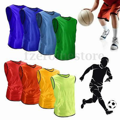 Team Sport Soccer Football Basketball Training Bib Youth Vest Sleeveless Shirt