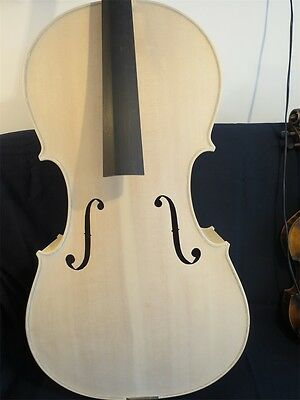 hand made strad style solid wood Unfinished white 4/4 cello #11875