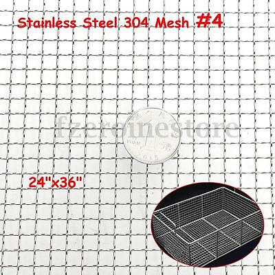 Stainless Steel 4 Mesh Woven Wire Filter Sheet Cloth Screen 60x90cm