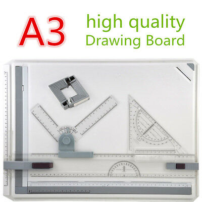 PRO Quality A3 Drawing Board Table Set Parallel Motion Adjustable Angle Bar New