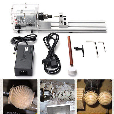 24V 80W Mini Lathe Beads Polisher Machine For Table Woodworking Wood DIY Tool